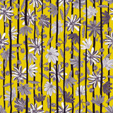 Illustratie van bloemen naadloos Grijze en witte bloemen Royalty-vrije Stock Foto