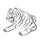 Illustratie van Boze tijger Stock Fotografie