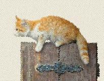 Illustratie van bruin katje stock afbeelding