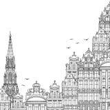 Illustratie van Brussel met ruimte voor tekst stock illustratie