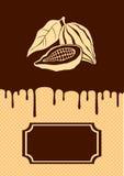 Illustratie van cacao en chocolade Stock Fotografie