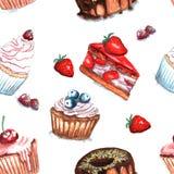 Illustratie van cakepatroon vector illustratie