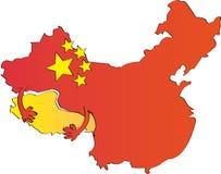 Illustratie van China Stock Afbeelding