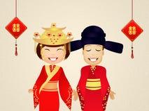 Illustratie van Chinees huwelijk royalty-vrije illustratie