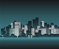 Illustratie van cityscape Stock Afbeelding