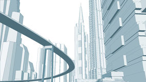 Illustratie van cityscape. Royalty-vrije Stock Afbeelding