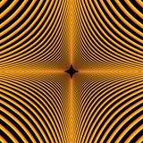 Illustratie van concentrische krommen in een diamantvormig patroon stock afbeeldingen
