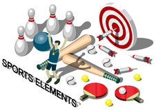 Illustratie van concept van de informatie het grafische sportuitrusting Stock Afbeelding