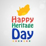 Illustratie van de achtergrond van de de Erfenisdag van Zuid-Afrika Stock Foto