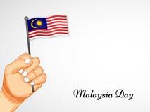 Illustratie van de achtergrond van de de Onafhankelijkheidsdag van Maleisië stock afbeelding