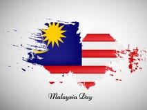 Illustratie van de achtergrond van de de Onafhankelijkheidsdag van Maleisië royalty-vrije stock afbeeldingen