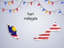 Illustratie van de achtergrond van de de Onafhankelijkheidsdag van Maleisië royalty-vrije illustratie