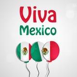 Illustratie van de Achtergrond van de de Onafhankelijkheidsdag van Mexico Stock Afbeelding