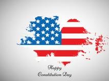 Illustratie van de Achtergrond van de de Grondwetsdag van de V.S. Stock Afbeelding