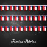 Illustratie van de Achtergrond van Fiesta'spatrias Viering van de de Onafhankelijkheidsdag van Chili ` s de Nationale Stock Foto's