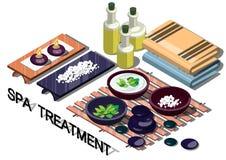 Illustratie van de behandelingsconcept van het informatie grafisch kuuroord Stock Fotografie