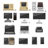 Illustratie van de computer de vectorevolutie stock illustratie