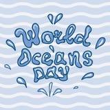 Illustratie van de dag van wereldoceanen Royalty-vrije Stock Foto