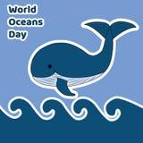 Illustratie van de dag van wereldoceanen Royalty-vrije Stock Foto's