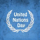 Illustratie van de Dagachtergrond van de Verenigde Naties vector illustratie
