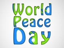 Illustratie van de Dagachtergrond van de Wereldvrede Stock Fotografie