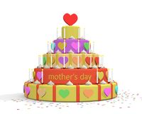Illustratie van de dagcake van de moeder Royalty-vrije Stock Afbeelding