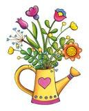 Illustratie van de de klemkunst van het bloemenboeket de hand getrokken Royalty-vrije Stock Foto's