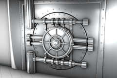 Illustratie van de deur van de bankkluis, vooraanzicht Royalty-vrije Stock Afbeeldingen