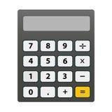 Illustratie van de geïsoleerde calculator royalty-vrije illustratie