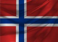 Illustratie van de Golvende Vlag van Noorwegen Royalty-vrije Stock Foto