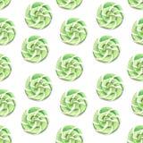 Illustratie van de groene karamel van het waterverfpatroon stock illustratie