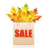 Illustratie van de herfst seizoengebonden verkoop Stock Foto's
