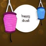 Illustratie van de Hindoese achtergrond van festivaldiwali Stock Afbeelding
