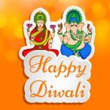 Illustratie van de Hindoese achtergrond van festivaldiwali Royalty-vrije Stock Foto
