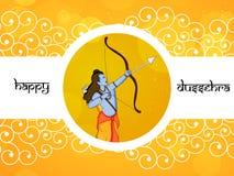 Illustratie van de Hindoese achtergrond van festivaldussehra Royalty-vrije Stock Foto's