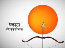 Illustratie van de Hindoese achtergrond van festivaldussehra Royalty-vrije Stock Foto