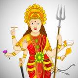 Illustratie van de Hindoese Achtergrond van festivalnavratri Royalty-vrije Stock Afbeelding