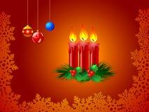 Illustratie van de kaarsen van Kerstmis Stock Foto