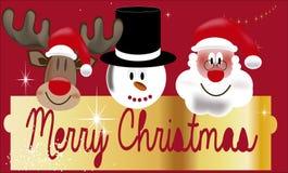 Illustratie van de Kerstman Stock Foto's