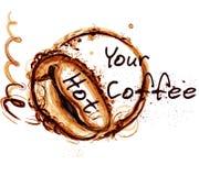 Illustratie van de koffie de vectoraffiche voor koffieetiketten Royalty-vrije Stock Fotografie