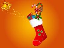 Illustratie van de kous van Kerstmis Royalty-vrije Stock Afbeelding