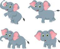 Illustratie van de leuke inzameling van het olifantsbeeldverhaal royalty-vrije illustratie