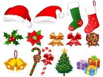 Illustratie van de ornamenten van Kerstmis Stock Afbeelding