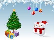 Illustratie van de ornamenten van Kerstmis Royalty-vrije Stock Foto's