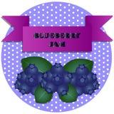 Illustratie van de stickers van de bosbessenjam vector illustratie