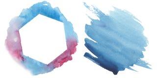 Illustratie van de waterverf de kleurrijke textuur Stock Afbeelding