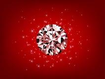 Illustratie van diamant met glanzende sterren Royalty-vrije Stock Fotografie