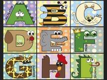 Dierlijk alfabet Royalty-vrije Stock Afbeelding