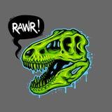Illustratie van dinosaurusschedel vector illustratie