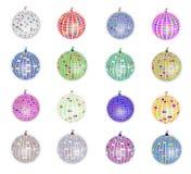 Geplaatste de ballen van de disco Stock Afbeelding